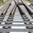 Stock Photo: New railway turnout