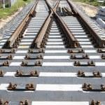 The new railway turnout — Stock Photo