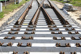 The new railway turnout — Stock Photo
