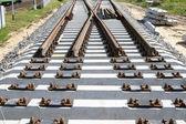 新的铁路道岔 — 图库照片