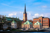 Riddarholmen Church Stockholm — Stock Photo