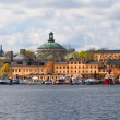 Stock Photo: Yachts on Stockholm waterfront