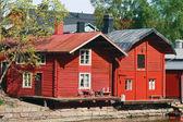 Domy na nábřeží — Stock fotografie