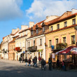 Antique street Sandomierz Poland — Stock Photo