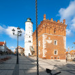 Old Square Sandomierz. Poland - Stock Photo