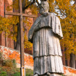 Monument Sandomierz abbot — Stock Photo