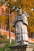 Monument Sandomierz abbot — Stockfoto