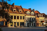 Houses on the Old Square — Stock Photo