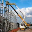 Installation of metal structures - Stock Photo