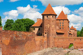 Lower park of the castle of Malbork — Stock Photo