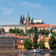 View from the right bank of the Vltava — Stock Photo