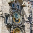 Stock Photo: Astronomical clock on the wall of the Old Town Hall
