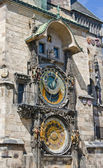 Astronomical clock on the wall of the Old Town Hall — Stock Photo