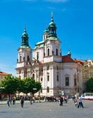 Cathedral of St Nicholas in Old Town Square in Prague — Stock Photo