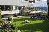 Zóna odpočinku a relaxace v moderní hotel — Stock fotografie