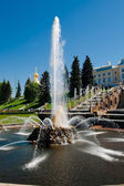 Fountain Samson — Stock Photo