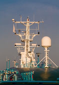 Navigation equipment on the mast — Stock Photo