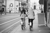 Användning av cykelpoužití jízdního kola — Stock fotografie