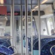 Interior commuter trains — Stock Photo