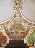 Fragmento de estuque e interior oratório marianum — Fotografia Stock