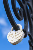 Lock with a vow of love — Stock Photo