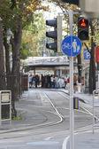 Ulice pro pěší a cyklistické stezky — Stock fotografie