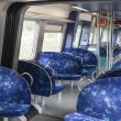 Interior of urban electric trains — Stock Photo