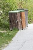 Contenitori in legno — Foto Stock