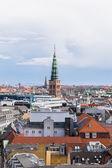 Cityscape from a height of a round tower — Stock Photo