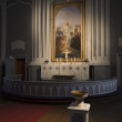 Altar of the old church in the village Kerimaki — Stock Photo