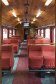 Vagón de ferrocarril retro en flam — Foto de Stock