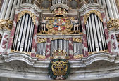 Fragment of organ in the church of the Holy Trinity — Stock Photo