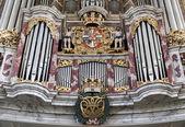Fragment varhany v kostele nejsvětější trojice — Stock fotografie