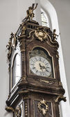 Antique clock in the church — Stock Photo