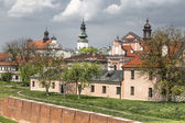 Walls of the old town in Zamosc — Stock Photo