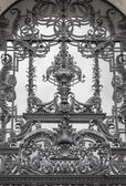 Detail of a beautiful window grilles — Stock Photo