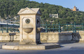 Urban stone water column — Stock Photo
