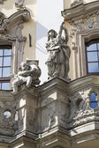 Sculptures on the facade of the University — Stock Photo