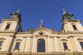 Detail of facade of the Basilica of the Holy Cross — Foto de Stock