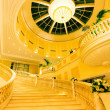 Royalty-Free Stock Photo: Yellow interior staircase