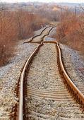 Деталь железнодорожной колеи — Стоковое фото