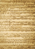 Vintage music sheet — Stock Photo