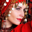 Stock Photo: Gipsy dancer portrait