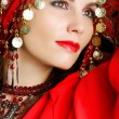 Gipsy dancer portrait — Stock Photo