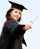 Graduation woman portrait — Stock Photo