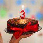 bolo de aniversário para crianças — Foto Stock