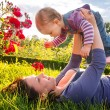 Happy young mother with her little daughter — Stock Photo
