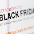 Online site shows deals for Black Friday. Stores around world prepare offers with discounts to products on night of Friday, November 21, 2013. — Stock Photo #36402185