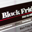 Online site shows deals fo Black Friday. Stores around world prepare offers with discounts to products on night of Friday, November 21, 2013. — Stock Photo #36402211