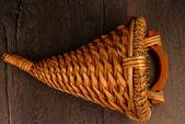 Wicker basket — Стоковое фото